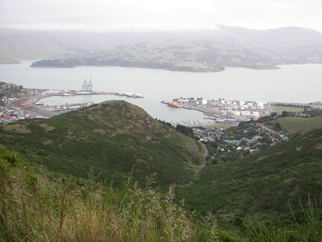 View of the Palmer in port at Lyttleton!