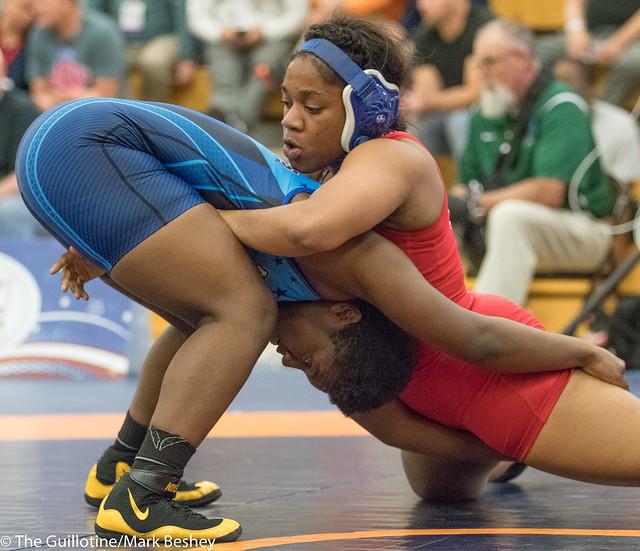 76 kg: Korinahe Bullock (Bearcat WC) vs. Mariah Harris (Campbellsville).  - 180519amk0181