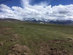 super Panorama auf die Schneeberge bei Xiaxiong