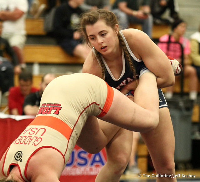 72 kg: Rachel Watters (New York AC) vs. Hannah Gladden (Lions WC). 180519BJF0194