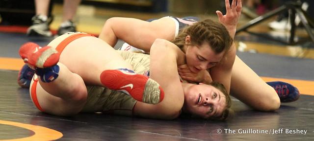 72 kg: Rachel Watters (New York AC) vs. Hannah Gladden (Lions WC). 180519BJF0200
