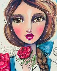 Lady Belle. :) #everafter2018 #willowing #willowingarts #mixedmedia #mixedmediaart #artistsofinstagram #tamaralaporte #art