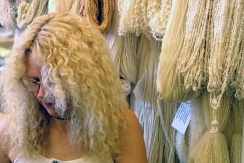 hair like yarn!