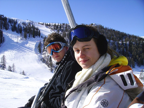Me and Daphne in the skilift