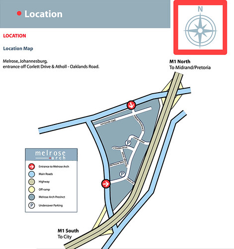 Map to Melrose Arch