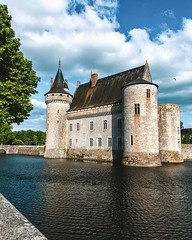 Day 764 - Château de Sully-sur-Loire was built as early as 1102. It was home to the dukes of Sully and until only sixty years ago was owned by a single family, the Sullys. It's embankments help protect the town from flooding. And in 1719 the home sheltere