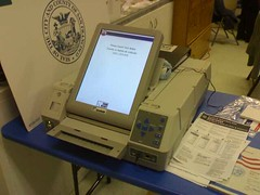 Lonely Diebold Voting Machine