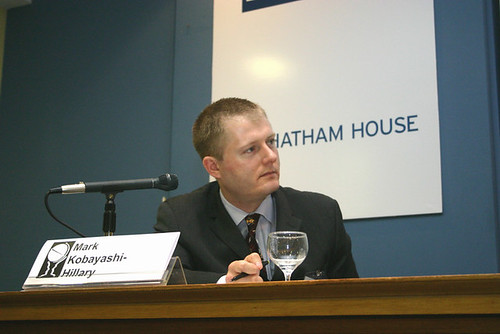 Mark speaking at Chatham House, London, June 2005