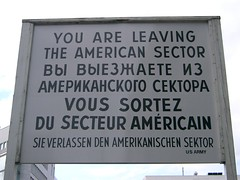 Signage at Checkpoint Charlie