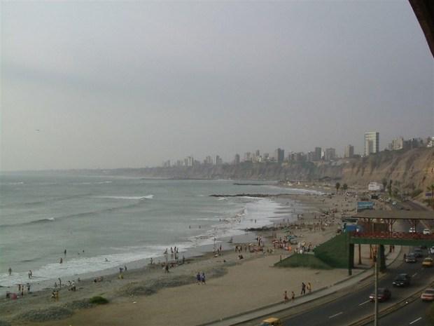 Ocean in Lima, Peru