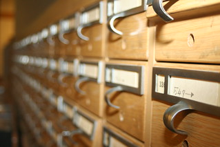 Old card catalog at Salt Lake City Public Library