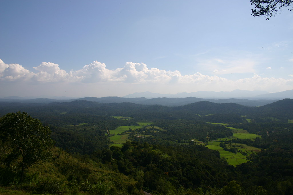 View of Coorg from Raja's Seat, Madikeri