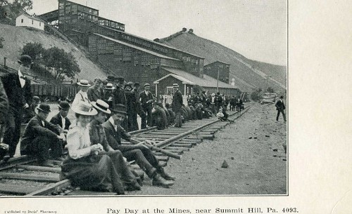 Pay day at the mines, near Summit Hill, Pa.