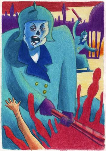 Répression (Danses et Contredanses) - Illustration : Gilderic