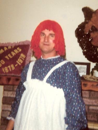 Dad as Raggedy Ann, 1978