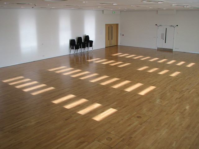 Sage empty dance studio