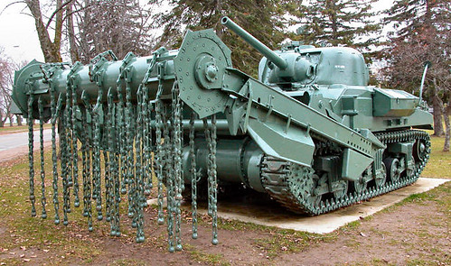 WW II Sherman Crab - anti-mine flail tank by gnawledge wurker