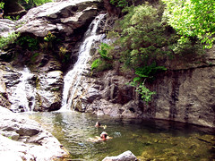 Eleni and Stavros Wild Swimming in Dipotama Chalares Canyon Ikaria Greece