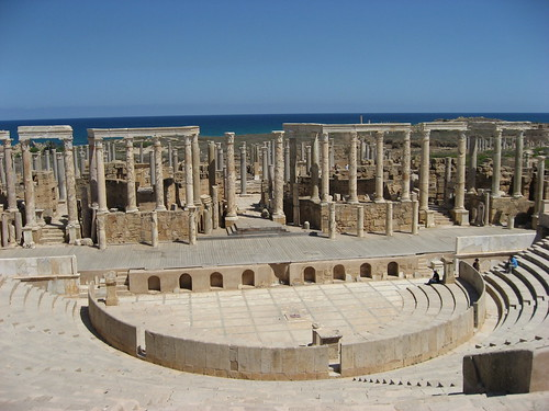 Theatre, Leptis Magna, Libya by Mike Gadd