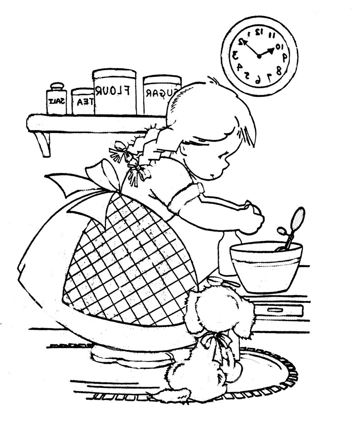 Cooking Girl Coloring Book Explore Playingwithbrushes S Flickr