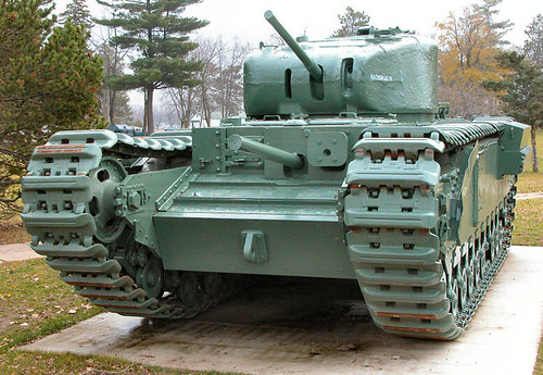 Churchill Tank WW II heavy tank by gnawledge wurker