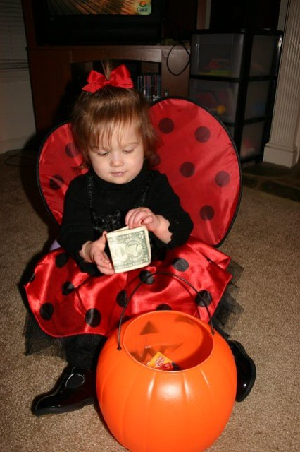 Counting the money!
