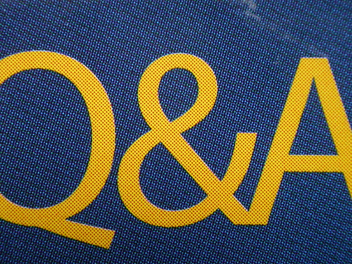 A photo of the letters Q & A