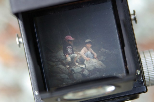 kids in the finder of Ricoh Flex