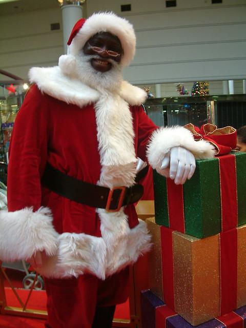 Black Santa And Presents Flickr Photo Sharing