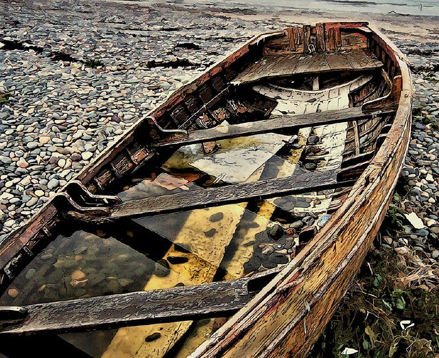 An Old Wooden Boat
