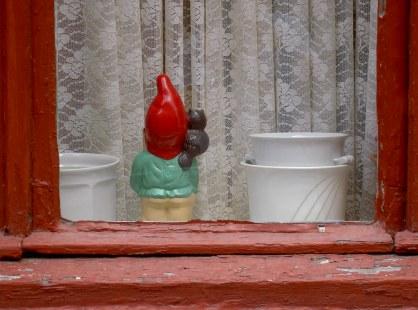 Shy garden gnome