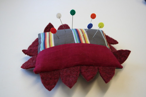 stripey pincushion