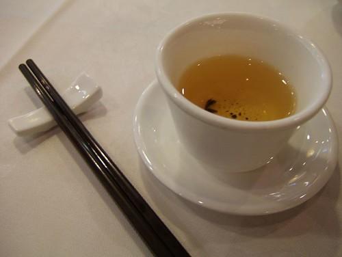 Chopsticks and tea