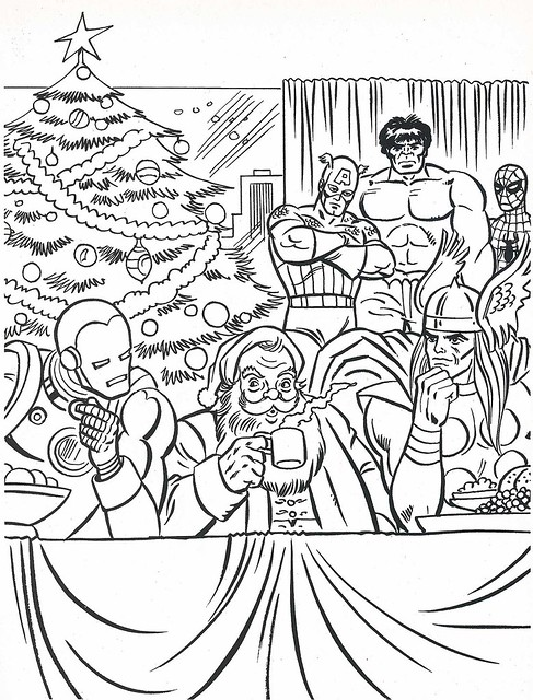 the marvel super heroes 39 christmas book page flickr photo