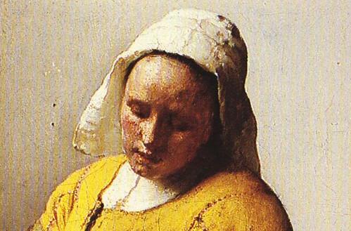 Vermeer's milkmaid (detail)