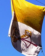 papal flag close