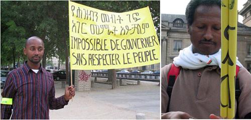 Paris Ethiopian Protest Rally