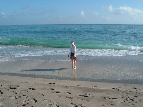 Sue at Juno Beach