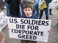 Soldiers die for corporate greed