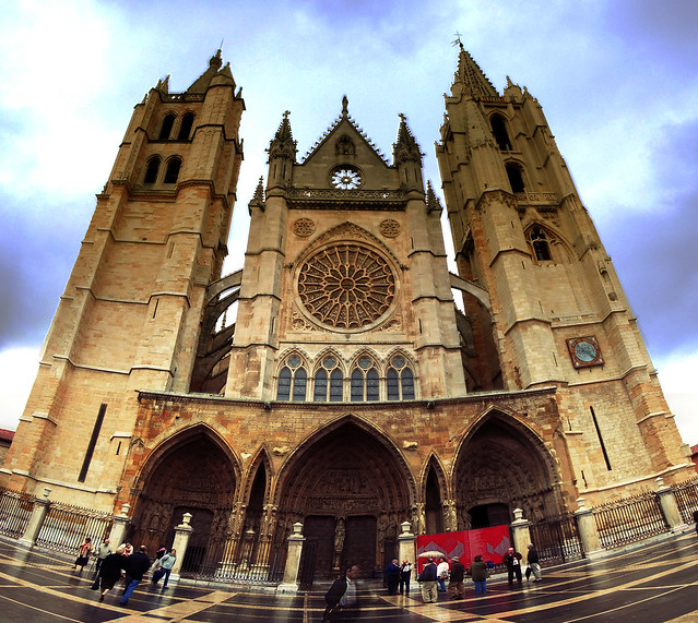 León Cathedral panorama