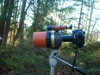 Nikon D50 attached to Celestron C-90