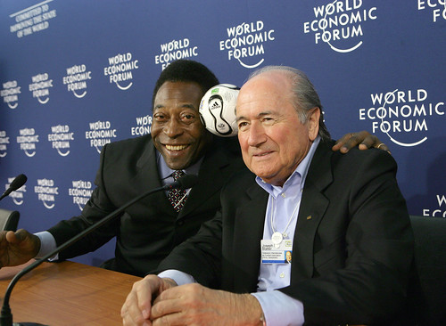 Pele, Sepp Blatter - World Economic Forum Annual Meeting Davos 2006
