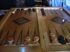 The backgammon board