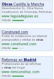 Barra de Interes Adwords