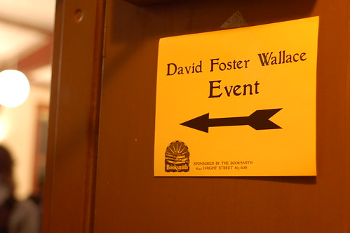Sign at a David Foster Wallace event