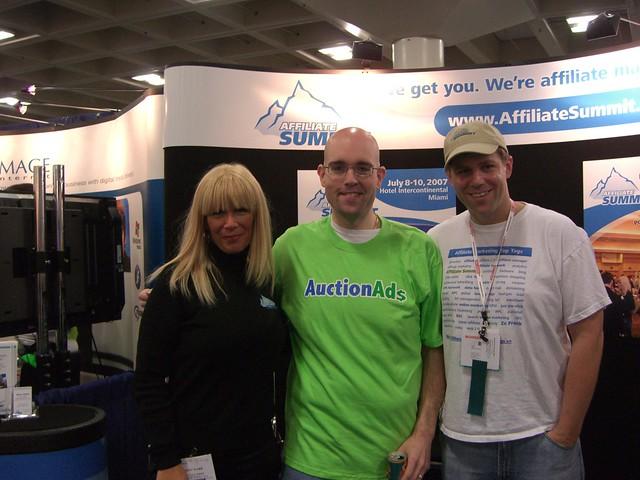 Missy Ward, Jeremy Schoemaker (ShoeMoney), and Shawn Collins
