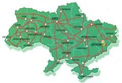 Mapa Ukrajiny