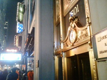 Front door on Times Square
