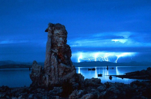 Lightening Storm, Mono Lake, 1991