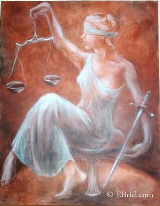 Painting of Blind Justice